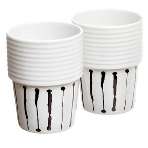 Filippa K kaffemugg 31cl Ink Stripe 2 st